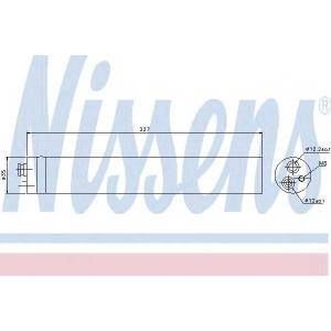вставка осушника з монтажними деталями 95453 nissens -