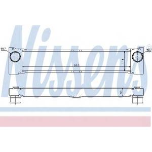 Интеркулер 96730 nissens - MERCEDES-BENZ VITO / MIXTO фургон (W639) фургон 110 CDI