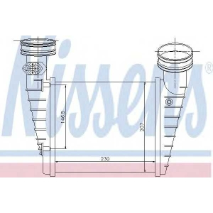 Интеркулер 96731 nissens - VW PASSAT (3B3) седан 1.8 T 20V
