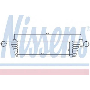 Интеркулер 96860 nissens - MERCEDES-BENZ E-CLASS (W210) седан E 290 Turbo-D (210.017)