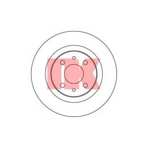 Тормозной диск 202342 nk - LADA 110 седан 1.5
