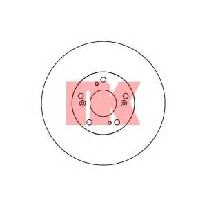 202646 nk Тормозной диск HONDA ACCORD седан 2.0 (CL7)