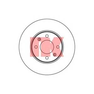 Тормозной диск 203523 nk - HYUNDAI i20 (PB, PBT) Наклонная задняя часть 1.4 CRDi