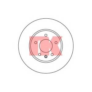 Тормозной диск 203666 nk - CHEVROLET CAPTIVA (C100, C140) вездеход закрытый 2.0 D 4WD