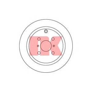 Тормозной диск 204581 nk - TOYOTA YARIS (SCP1_, NLP1_, NCP1_) Наклонная задняя часть 1.0 16V