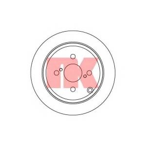Тормозной диск 204584 nk - TOYOTA COROLLA (ZZE12_, NDE12_, ZDE12_) Наклонная задняя часть 1.4 VVT-i
