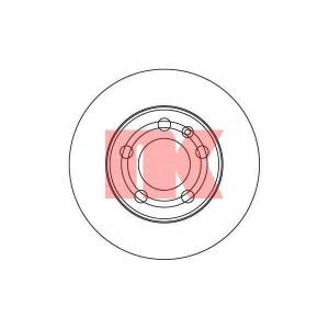 Тормозной диск 2047101 nk - SKODA FABIA (6Y2) Наклонная задняя часть 1.4 16V