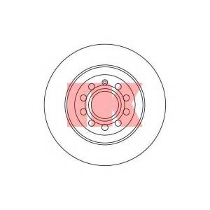 Тормозной диск 2047109 nk - AUDI A6 (4F2, C6) седан 3.0 TFSI quattro