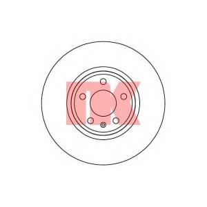 Тормозной диск 2047127 nk - AUDI Q5 (8R) вездеход закрытый 2.0 TFSI hybrid quattro