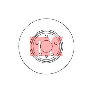 Тормозной диск 2047132 nk - AUDI A5 (8T3) купе 2.0 TDI