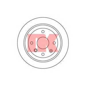 Тормозной диск 205011 nk - CHEVROLET NUBIRA седан седан 1.4