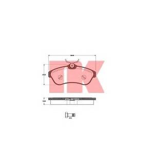 Комплект тормозных колодок, дисковый тормоз 221951 nk - CITRO?N C3 (FC_) Наклонная задняя часть 1.6 16V