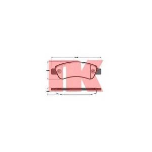 Комплект тормозных колодок, дисковый тормоз 221960 nk - FIAT DUCATO автобус (250) автобус 130 Multijet 2,3 D
