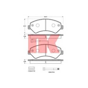 NK 221962 Колодки тормозные дисковые, комплект