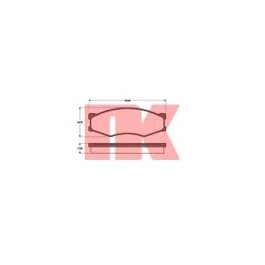 NK 222212 Комплект тормозных колодок, дисковый тормоз Инфинити