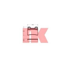 Комплект тормозных колодок, дисковый тормоз 222533 nk - FORD ESCORT V (GAL) Наклонная задняя часть 1.8 16V XR3i