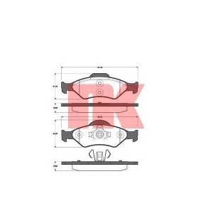 Комплект тормозных колодок, дисковый тормоз 222556 nk - FORD FIESTA IV (JA_, JB_) Наклонная задняя часть 1.3 i