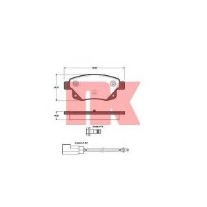 Комплект тормозных колодок, дисковый тормоз 222565 nk - FORD TRANSIT автобус автобус 2.2 TDCi