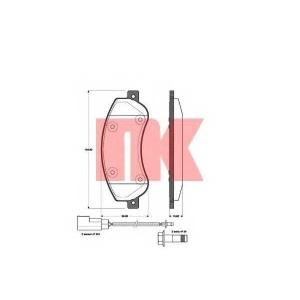 Комплект тормозных колодок, дисковый тормоз 222566 nk - FORD TRANSIT автобус автобус 2.2 TDCi