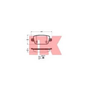 Комплект тормозных колодок, дисковый тормоз 222567 nk - FORD MONDEO IV Turnier универсал 2.0 LPG