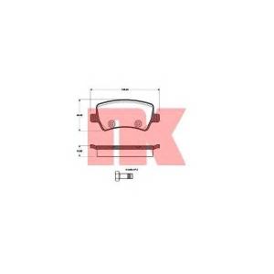 Комплект тормозных колодок, дисковый тормоз 222571 nk - VOLVO V70 III универсал T4