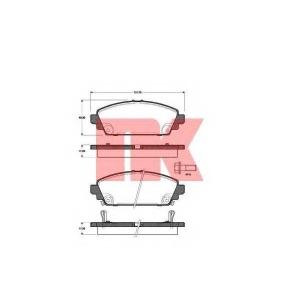 Комплект тормозных колодок, дисковый тормоз 222629 nk - HONDA ACCORD VII (CG, CK) седан 1.6 i
