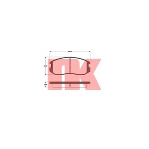 NK 223017 Комплект тормозных колодок, дисковый тормоз Дайхатсу Астраи