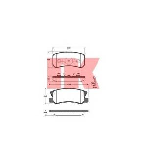 Комплект тормозных колодок, дисковый тормоз 223025 nk - MITSUBISHI PAJERO III (V60, V70) Вездеход открытый 3.2 DI-D (V68W, V78W)
