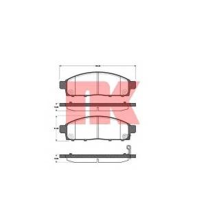 Комплект тормозных колодок, дисковый тормоз 223033 nk - MITSUBISHI PAJERO SPORT II (KG_, KH_) вездеход закрытый 3.2 DI-D
