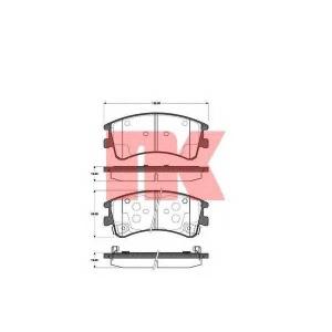 Комплект тормозных колодок, дисковый тормоз 223245 nk - MAZDA 6 Hatchback (GG) Наклонная задняя часть 2.0