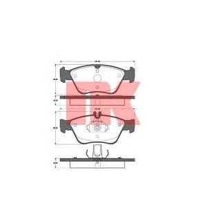 NK 223330 Тормозные колодки  MB C-Kl,CLK,E-Kl 94-