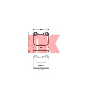 NK 223350 Колодки тормозные дисковые, комплект
