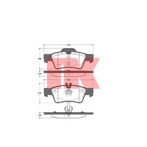 Комплект тормозных колодок, дисковый тормоз 223353 nk - MERCEDES-BENZ CLS (C218) купе 350 (218.359)