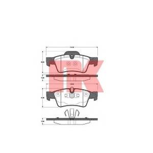 NK 223361 Тормозные колодки  merc. M-Klasse 05-