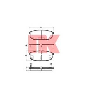 223509 nk Комплект тормозных колодок, дисковый тормоз KIA SORENTO вездеход закрытый 2.5 CRDi
