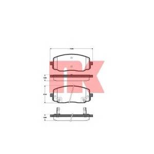Комплект тормозных колодок, дисковый тормоз 223513 nk - KIA PICANTO (TA) Наклонная задняя часть 1.0