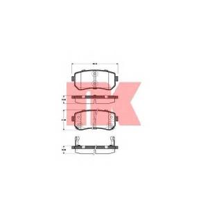 Комплект тормозных колодок, дисковый тормоз 223521 nk - HYUNDAI ix20 (JC) Наклонная задняя часть 1.4