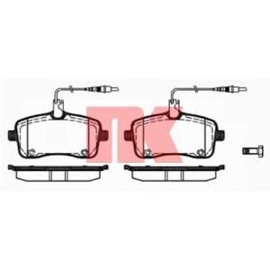 Комплект тормозных колодок, дисковый тормоз 223743 nk - PEUGEOT 407 (6D_) седан 2.0