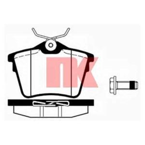 Комплект тормозных колодок, дисковый тормоз 223745 nk - PEUGEOT 407 (6D_) седан 2.0