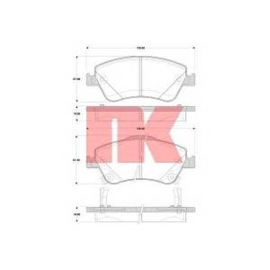 Комплект тормозных колодок, дисковый тормоз 224584 nk - TOYOTA AURIS (ZZE15_, ADE15_, ZRE15_, NDE15_) Наклонная задняя часть 1.4 D-4D