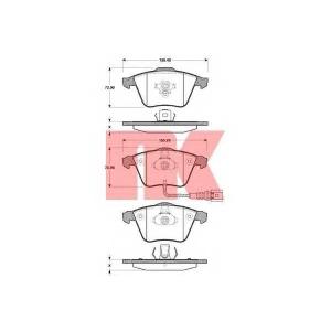 Комплект тормозных колодок, дисковый тормоз 2247110 nk - AUDI A3 (8P1) Наклонная задняя часть 1.6 E-Power