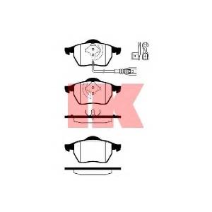 Комплект тормозных колодок, дисковый тормоз 224757 nk - VW BORA (1J2) седан 2.3 V5
