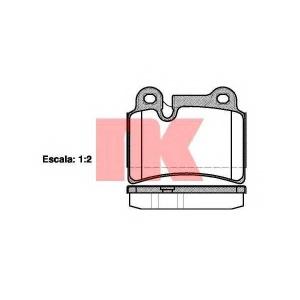 NK 224793 Тормозные колодки  VW Touareg 04-