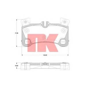 Комплект тормозных колодок, дисковый тормоз 224799 nk - PORSCHE CAYENNE (955) вездеход закрытый S 4.5