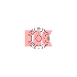 Тормозной барабан 253906 nk - RENAULT SUPER 5 (B/C40_) Наклонная задняя часть 1.0 (B/C/400)