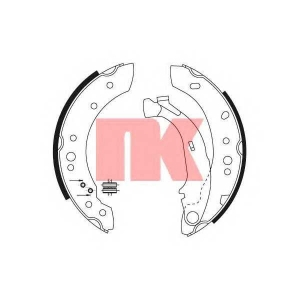 Комплект тормозных колодок 2719691 nk - CITRO?N C3 (FC_) Наклонная задняя часть 1.1 i