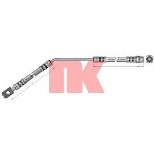 NK 851528 Тормозной шланг правый задний 585мм BMW X5 3.0i ,4.4i  00-
