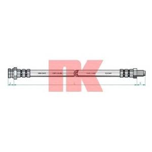 Тормозной шланг 852355 nk - FIAT PANDA (141A_) Наклонная задняя часть 800