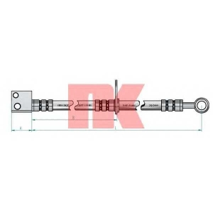 NK 852669 Тормозной шланг