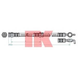 Тормозной шланг 853242 nk - MAZDA 626 V (GF) седан 1.8